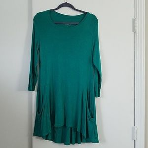 LOGO Green Tunic Top